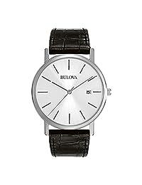 Bulova Men's 96B104 Strap Silver Dial Watch