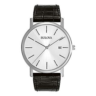 Bulova Men's 96B104 Strap Silver Dial Watch (B002IDTUHG) | Amazon price tracker / tracking, Amazon price history charts, Amazon price watches, Amazon price drop alerts
