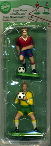 Wilton Soccer Players Candles and Cake Decorations 3.25