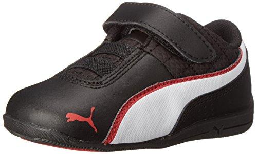 PUMA Drift Cat 6 L V Kids Sneaker (Little Kid), Black/White/High Rise, 13 M US Little Kid ()