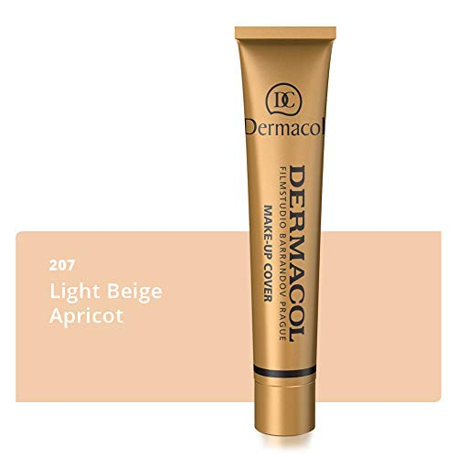(Dermacol Make-up Cover - Waterproof SPF 30 Hypoallergenic Foundation 30g 100% Original Guaranteed from Authorized Stockists)