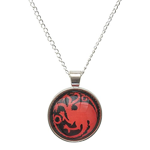 Dragon Costume Headed 3 (Daenerys Targaryen's Dragons. Red and Black Glass Cobochon pendant)