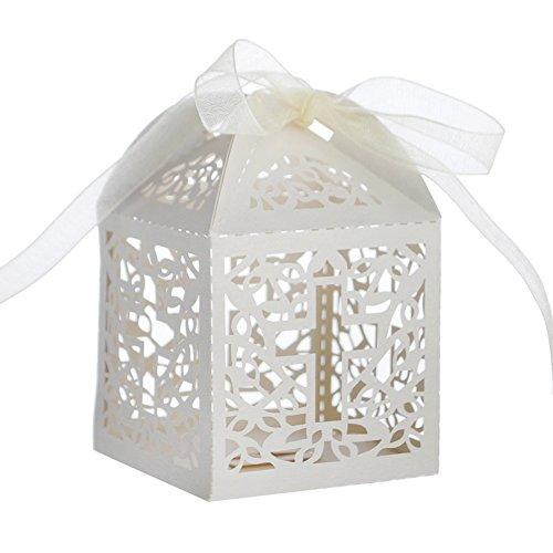 Aspire 300 PCS Cross Favor Boxes Wholesale Laser Cut Candy Box Wedding Accessories -