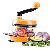 MIGECON Kitchen Manual Food Processor Meat Mincer Vegetable Chopper with Hand Crank