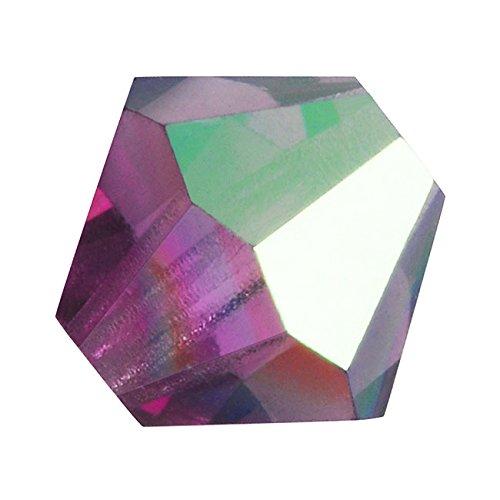 Preciosa Czech Crystal Bicones Glass Beads 3mm Amethyst AB (25) ()