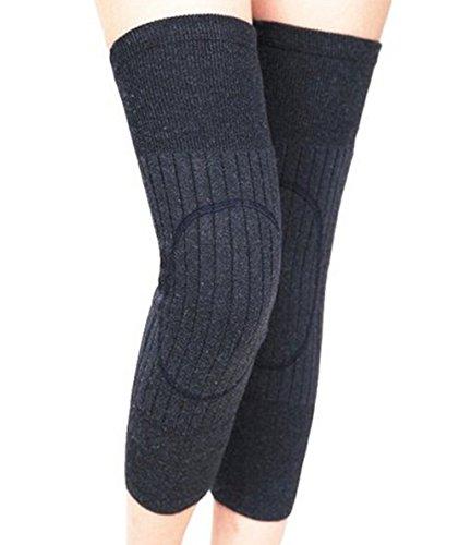 SEADEAR Winter Warm Thicken Wool Cashmere Knees Brace Support Pads Knee Warmers Sleeve Leg Warmers Protector for Women Men with Stylus Deep - Men Leg For Warmer