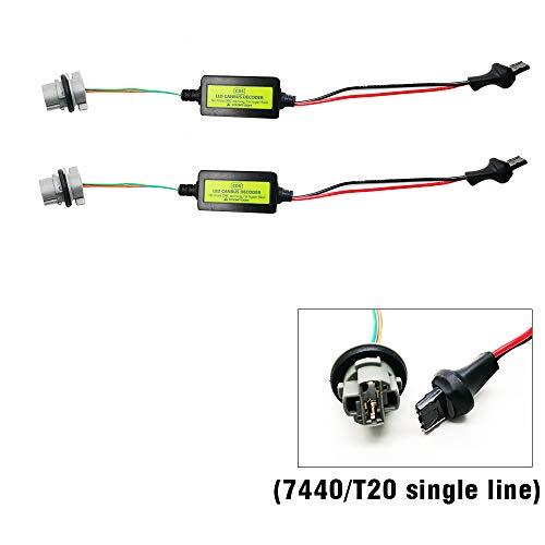 KOOMTOOM Canbus Decoder 7440/T20 Turn Signal Light Lamp Anti Flicker Harness Load Resistor Car Led Flickerng Warning Error Canceller Decoder