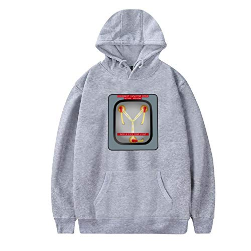 Aharyoa Mens Hoodies,It's What Makes Time Travel Possible Fashion Printed Plush Pocket Sweater,Soft and Warm S Gray ()