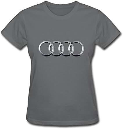 Van Women's Volks Wagen AG Germany Audi Car Brand Logo Tees Black