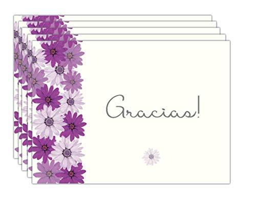 20 Tarjetas de Agradecimiento Thank You cards Notes in Spanish Gracias Cards for Wedding, Baby Shower,Anniversary, Bridal Shower - Flores Gracias Cards in Spanish Español with envelopes