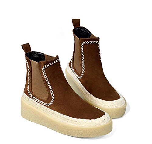 NSXZ Winter flat-bottomed elastic knitted boots ankle boots BROWN-90160CM N5cX009