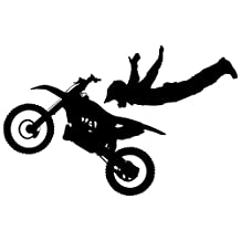 Motocross Wall Decal Sticker 7 - Decal Stickers and Mural for Kids Boys Girls Room and Bedroom. Dirt Bike Wall Art for Home Decor and Decoration Ð Extreme Sports Motocross Bike Silhouette Mural