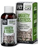Tomlyn Cat Anxiety & Stress Control (4oz) for Loud Noises Cowering & Hiding Travel Anxiety