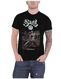 Ghost T Shirt Dance Macabre Moonlight Band Logo New Official Mens Black