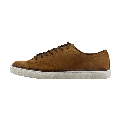 FRYE Mens Gates Low-Top Lace-up Fashion Sneaker Brown Suede Lgtojh5XCm