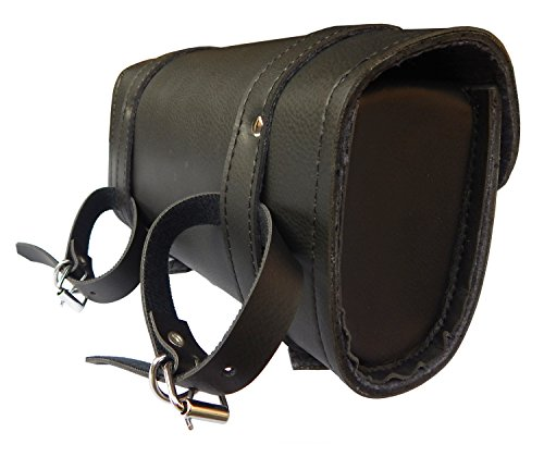 ARD CHAMPS Motorcycle Tool Bag Handlebar Saddle Bag PU Leather Storage Tool Pouch 2 Strap Closure by ARD CHAMPS (Image #2)