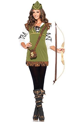 Leg Avenue Women's Classic Robin Hood Costume, Olive, -