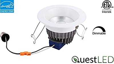 """Quest UNV Premium 4"""" Reflector LED Downlight 120V-277V, 11W, CRI>80, 850 Lumens, Dimmable, Energy Star and Interek Certified"""
