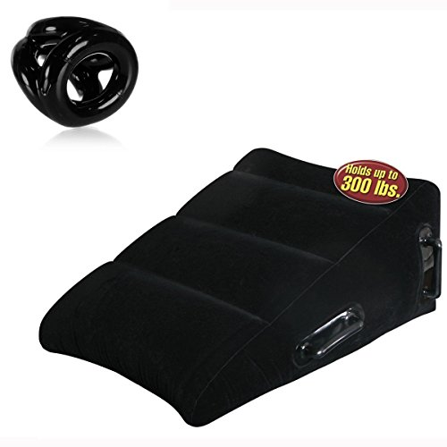 Ultra Inflatable Better Sex Cushion Wedge Pillow AND 3-ring Tri-Sport Sling Atomic Jock Bundle by Unknown
