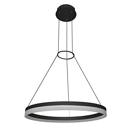 VONN VMC31650BL Modern/Contemporary 24 inch Led Chandelier, Adjustable Suspension Fixture, Modern Circular Chandelier Lighting, Tania Collection, 23.63