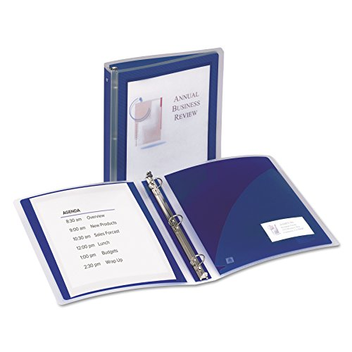 Avery Flexi-View Binders with 1.5-Inch Round Ring, Holds 8.5 x 11 Inches Paper, Navy Blue ()