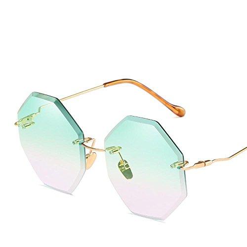 de Marco de de sin Color Sol océano pie película de Corte del Axiba Actuales creativos Doble Gafas Moda la Gafas Moda Sol E de Damas Regalos 1O7vqnxw8