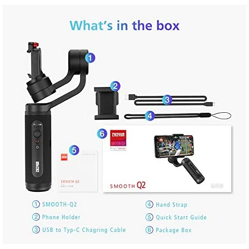ZHIYUN SMOOTH Q2 [Official] 3-Axis Handheld Gimbal Stabilizer for Smartphone/Iphone Fdeals gimbal