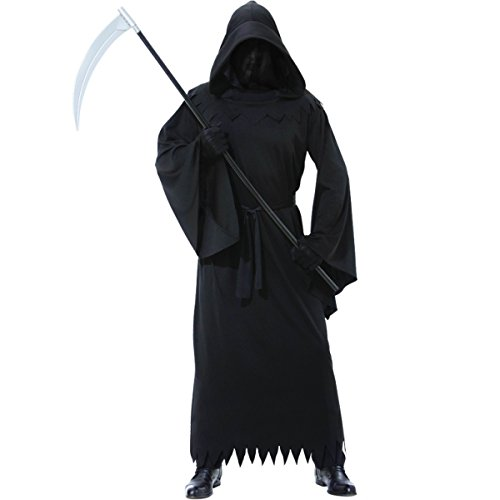 Déguisement adulte Homme Faucheur de la Mort Noir - Taille Standard