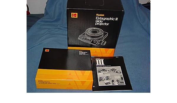 Kodak Ektagraphic III AT Proyector de Diapositivas: Amazon.es ...