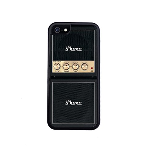 Marshall Guitar Amp Inspired cell phone Case for iPhone 5 / 5s By Little Brick press (Hard Silicone Rubber Case) - Marshall Amp Case