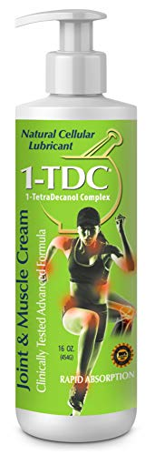 1TDC - Joint & Muscle Relief Cream - 16 oz - Professionally Formulated to Soothe, Relax & Promote Healing - 1-TetraDecanol Complex Supports Natural Joint Flexibility - Effective & Paraben Free