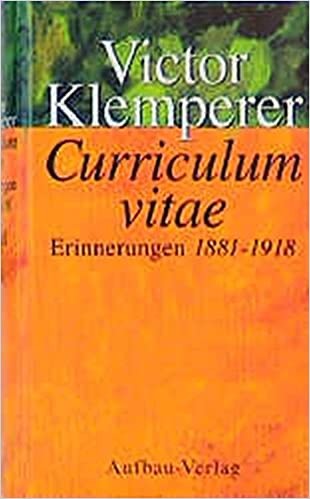 curriculum vitae victor klemperer