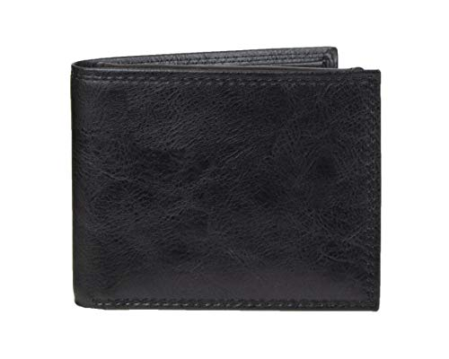 Amazon Essentials Men's RFID Blocking Passcase Bifold Wallet, Black, One Size