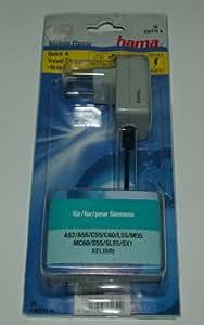 """Hama Quick y cargador de """"color Gray"""" para Siemens A/C/S55"""