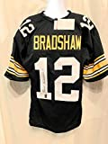 Terry Bradshaw Pittsburgh Steelers Signed Autograph Custom Jersey Black Bradshaw Holo JSA Witnessed Certified