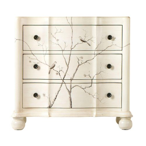 Hand painted Bird Chest, 3-DRAWER, OFF WHITE (Dressers And Chests Target compare prices)
