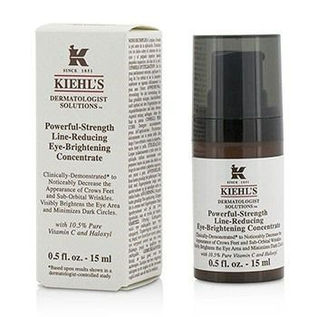 Kiehls - Powerful Strength Line Reducing Eye Brightening Concentrate - 15ml/0.5oz Acnefree Severe Corrective Toner 8 Oz (2 X 4 Oz = 8 Oz)!