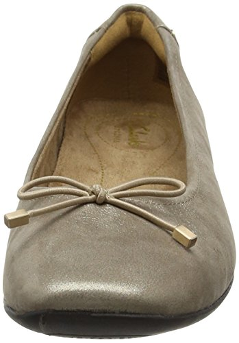Argent Various Ballerines Candra Light Femme Beige champagne Clarks YwfZvqxY