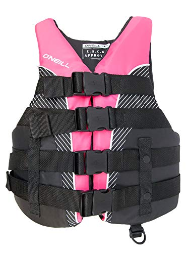 O'Neill Womens Superlite USCG Life Vest XL Black/Berry/Black (Life Jacket Adult Small)