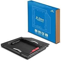 Vantec USB 3.0SATA slim Optical Drive Enclosure (nst-510s3-bk), 9.5mm ODD computadora portátil HDD/SSD organizador