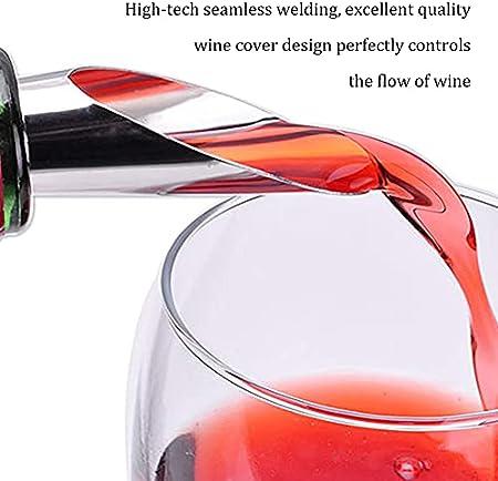 Vertedores Acero Inoxidable para Vino,QSXX 12 Piezas Vertedor Acero Inoxidable Boquillas,Tapones y Vertedores para Vino para Botellas para Verter Vino con Sacacorchos de Vino Tapones para Vino