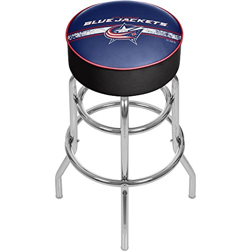 Trademark Gameroom NHL Columbus Blue Jackets Chrome Bar Stool with Swivel