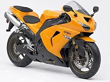 Amazon.com: Orange Black Injection Fairing for 2006-2007 ...