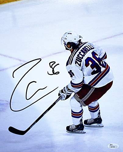 sale retailer 35ba6 af61b Autographed Signed Mats Zuccarello New York Rangers Hockey ...