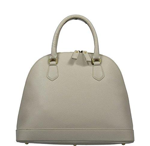 8f8295012703e Schöne praktische Leder Beige italienische Handtasche aus Leder Agnella  Beige in der Hand