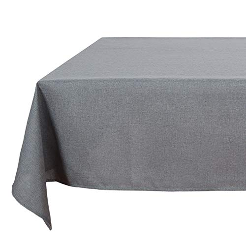 - Deconovo Wrinkle Resistant Spillproof Table Cover Linen Rectangular Look Linen Grey Tablecloth for Restaurant 54x120 Inch Grey