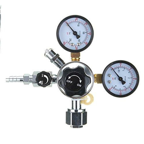 5/16 Inch HFS CO2 Regulator Dual Gauge Valve for Beer Brewing Kegerator