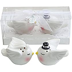 KateMelon Happily Ever After Ceramic Salt and Pepper Shakers Set Bliss Angel, Set of 10