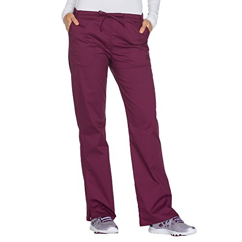 Cherokee Workwear Drawstring Pant (Cherokee Workwear Core Stretch Women's Drawstring Cargo Scrub Pant Small Wine)