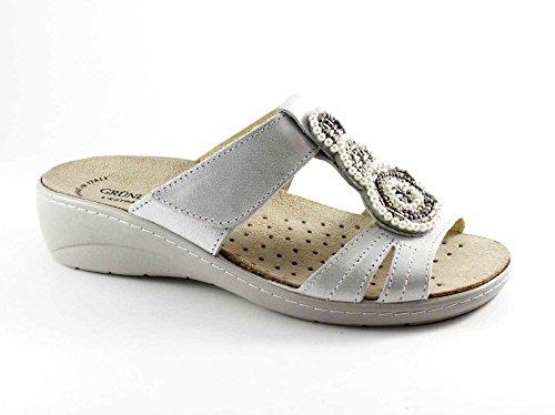 Grünland ESTA CE0520 zapatillas blancas señora Tear plantilla extraíble Bianco